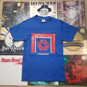 "Vintage artist Odin Lonning ""Lovebirds"" t shirt"